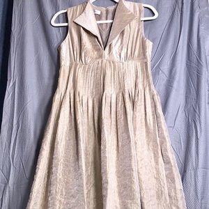Maggy London: Shimmer Gold Sleeveless Dress